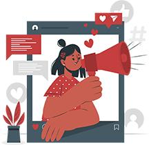 provide customer service through social media