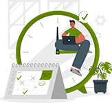 save time when using the digital business hub
